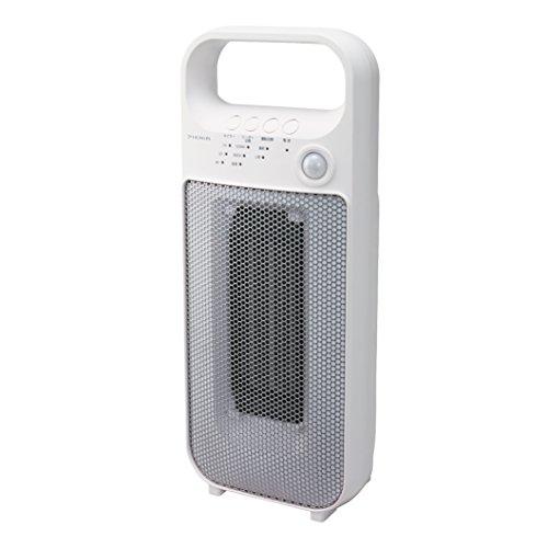 ピエリア セラミックヒーター 人感センサー付き ホワイト DCH-1608 WH