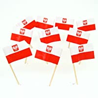 Poland Polish Flag With Coat of Arms Toothpicks (100)