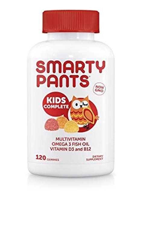 コウモリきれいに雷雨SmartyPants Gummy Vitamins SmartyPants子供完全グミビタミン:マルチビタミン&オメガ3魚油(DHA/EPA脂肪酸)、ビタミンD3、メチルB12、120 COUNT、30日間SUPPLY