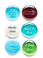 ガラスストーンfor Mom、Tell Your母の愛情を彼女6倍withこのThoughtfulギフト。デラックスギフトボックス。Byスペースバンパイアガラス。