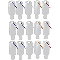 Hemoton 15pcs Travel Bottles with Keychain Plastic Empty Travel Containers Leak Proof Bottles Refillable Squeezable Container for Toiletries Face Body Wash, 50ml