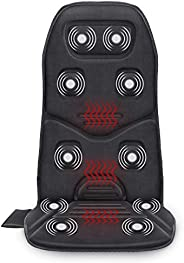 Comfier Massage Seat Cushion with Heat - 10 Vibration Motors, 3 Heating Pad, Back Massager for Chair, Massage