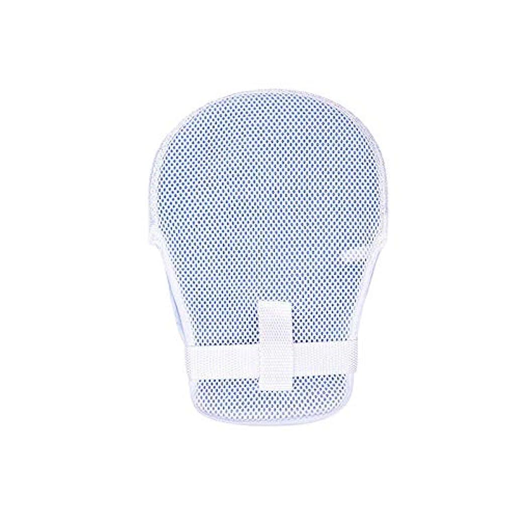 ブルジョン忍耐マニュアルJVSISM ハンドビーム手袋、高齢者用ベッド、引き抜き式チューブ拘束、固定手袋、傷害ケア、ネクタイロープ