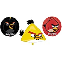 3 Angry Birds Mylar Balloons - Angry Bird Foil Balloon Bouquet by Anagram [並行輸入品]