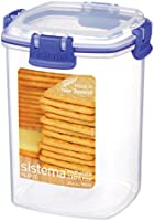 Sistema Klip It Small Cracker Container, Clear