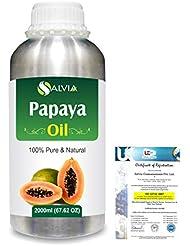 Papaya (Carica papaya) Natural Pure Undiluted Uncut Carrier Oil 2000ml/67 fl.oz.