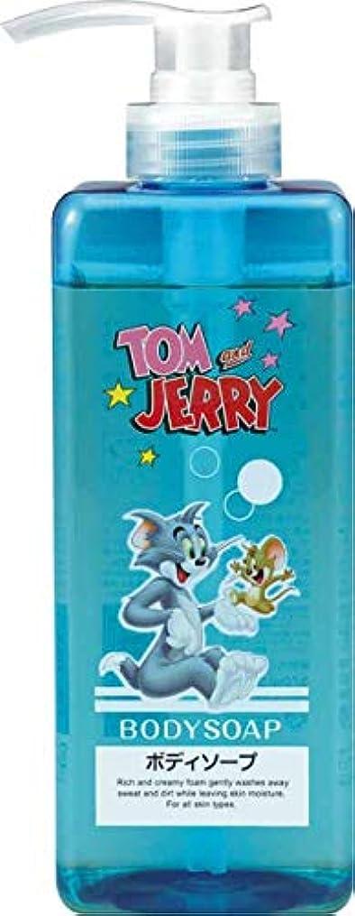 憂鬱受け皿プラスチック熊野油脂 トムとジェリー ボディソープ 570ml