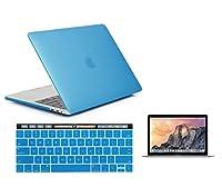 Raidfox Macbook Pro 13a1706タッチバー/ ID 3- in - 1アクセサリ–プラスチックハードケース–ソフトシリコンキーボードカバー–HDクリアスクリーンプロテクター–最新2016Mac Pro 13.3–つや消しマットライトブルー