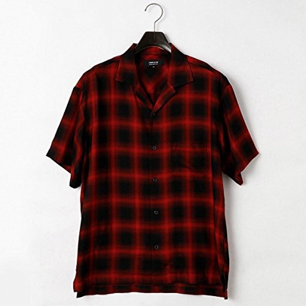 大宇宙注文小学生コムサイズムメンズ(COMME CA ISM) オンブレー チェック オープンカラー シャツ