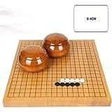 RACHELLE Yunzi Go チェスセット 無垢材彫刻 両面チェスボード 無垢材タンク付きニューユンジ (カラー:B サイズ:4cm)