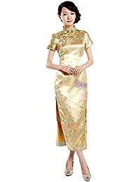 236564f00ad8b Amazon.co.jp  ゴールド - パーティードレス   ワンピース・ドレス  服 ...