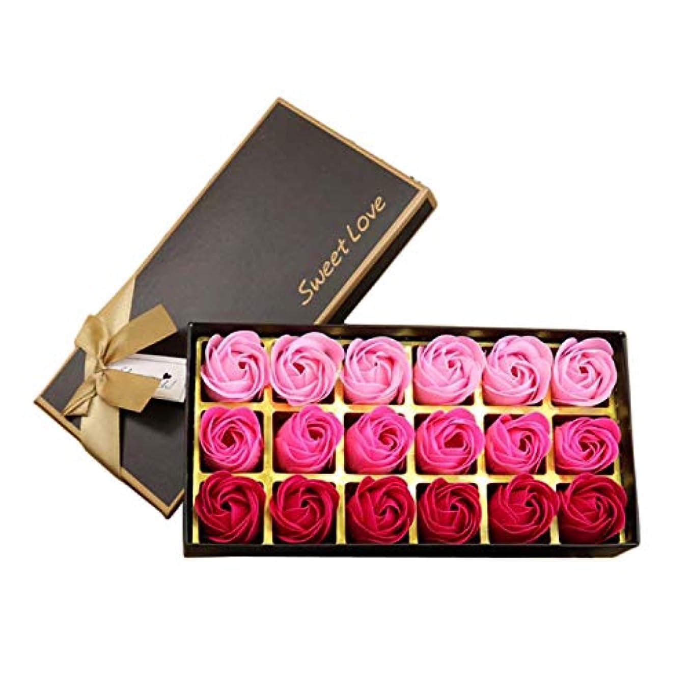 公使館キャリア異なるサントレード 18枚入り 花の香 せっけん バスソープ せっけん ローズフラワー形 ロマンティック 記念日 誕生日 結婚式 バレンタインデー プレゼント (ピンク)