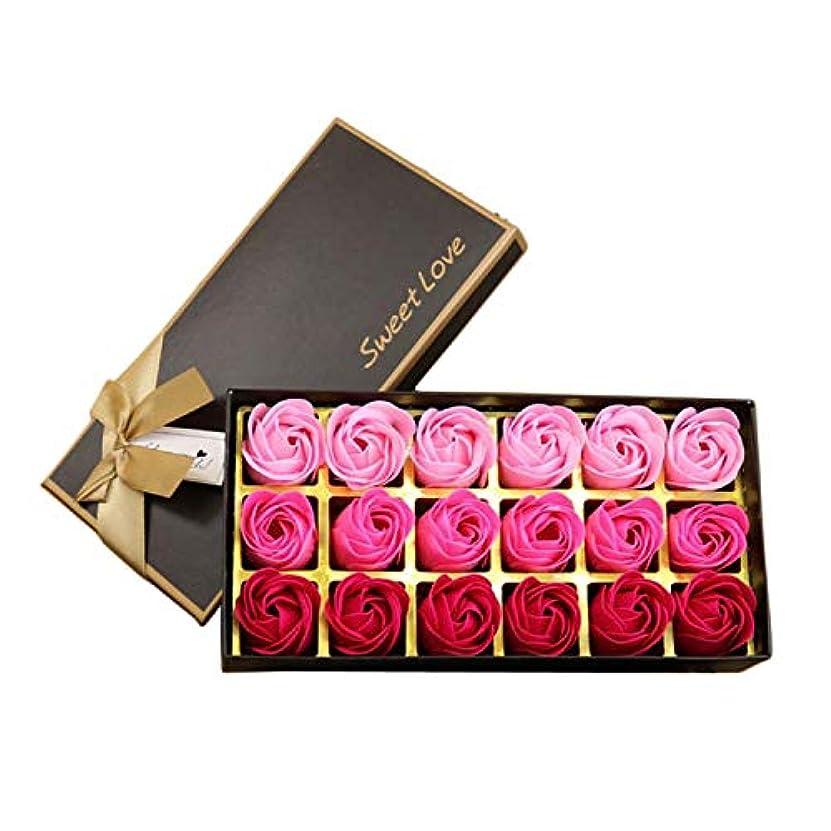じゃがいもうんざり手綱サントレード 18枚入り 花の香 せっけん バスソープ せっけん ローズフラワー形 ロマンティック 記念日 誕生日 結婚式 バレンタインデー プレゼント (ピンク)