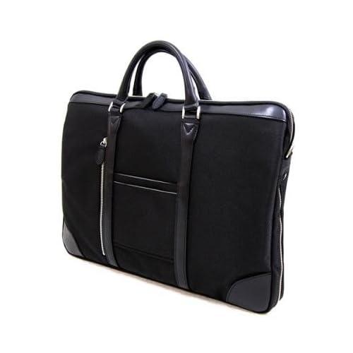 [オリジン]織人 多機能ビジネスバッグ 細マチビジネスバッグ インナーバッグ付 本革付属 PC対応 メンズ ブラック
