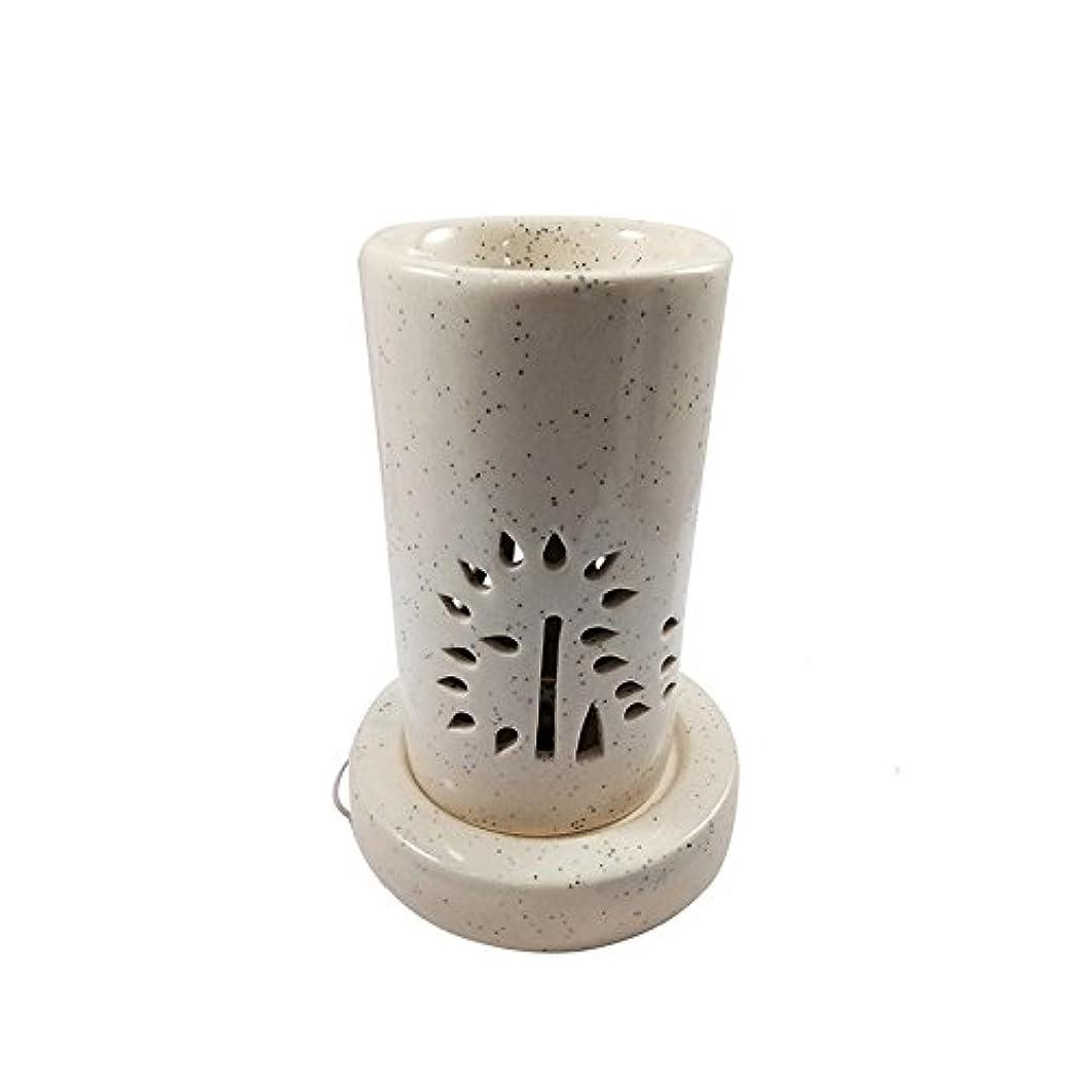 十代損なう期間ホームデコレーション定期的に使用する汚染のない手作りセラミックエスニックアロマディフューザーオイルバーナー|良質ブラウン色電気アロマテラピー香油暖かい数量1