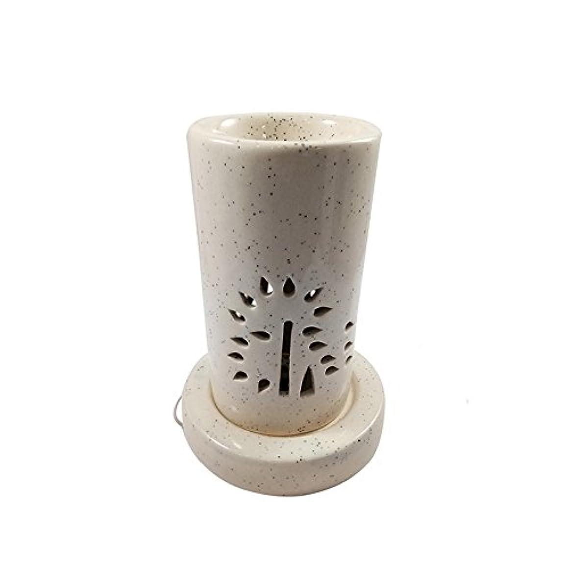 スカープ著者インスタンスホームデコレーション定期的に使用する汚染のない手作りセラミックエスニックアロマディフューザーオイルバーナー 良質ブラウン色電気アロマテラピー香油暖かい数量1