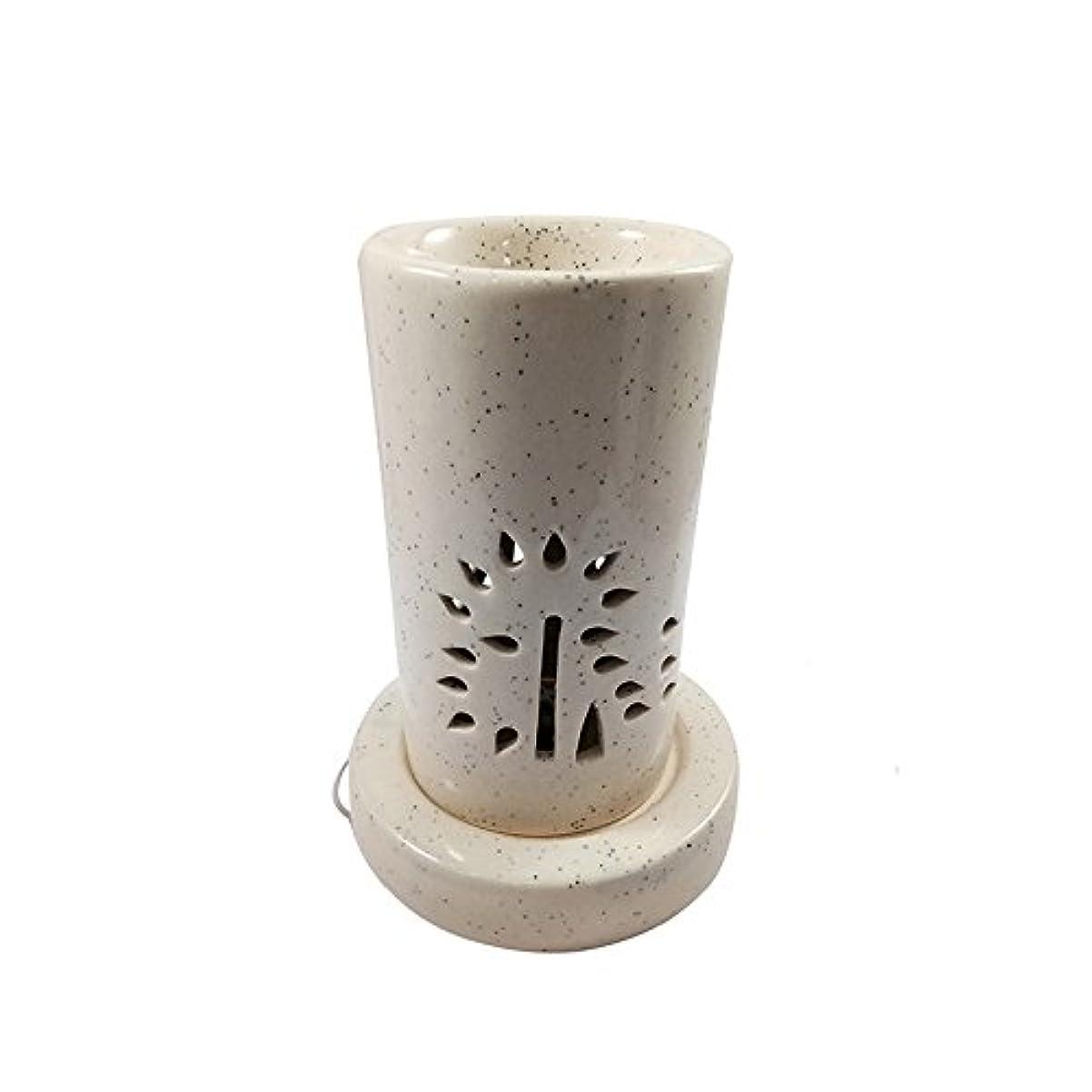 汗ピービッシュ皮肉ホームデコレーション定期的に使用する汚染のない手作りセラミックエスニックアロマディフューザーオイルバーナー|良質ブラウン色電気アロマテラピー香油暖かい数量1