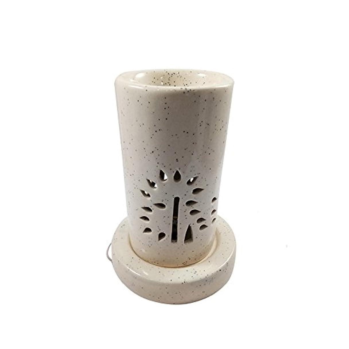 ありがたい電圧協会ホームデコレーション定期的に使用する汚染のない手作りセラミックエスニックアロマディフューザーオイルバーナー|良質ブラウン色電気アロマテラピー香油暖かい数量1