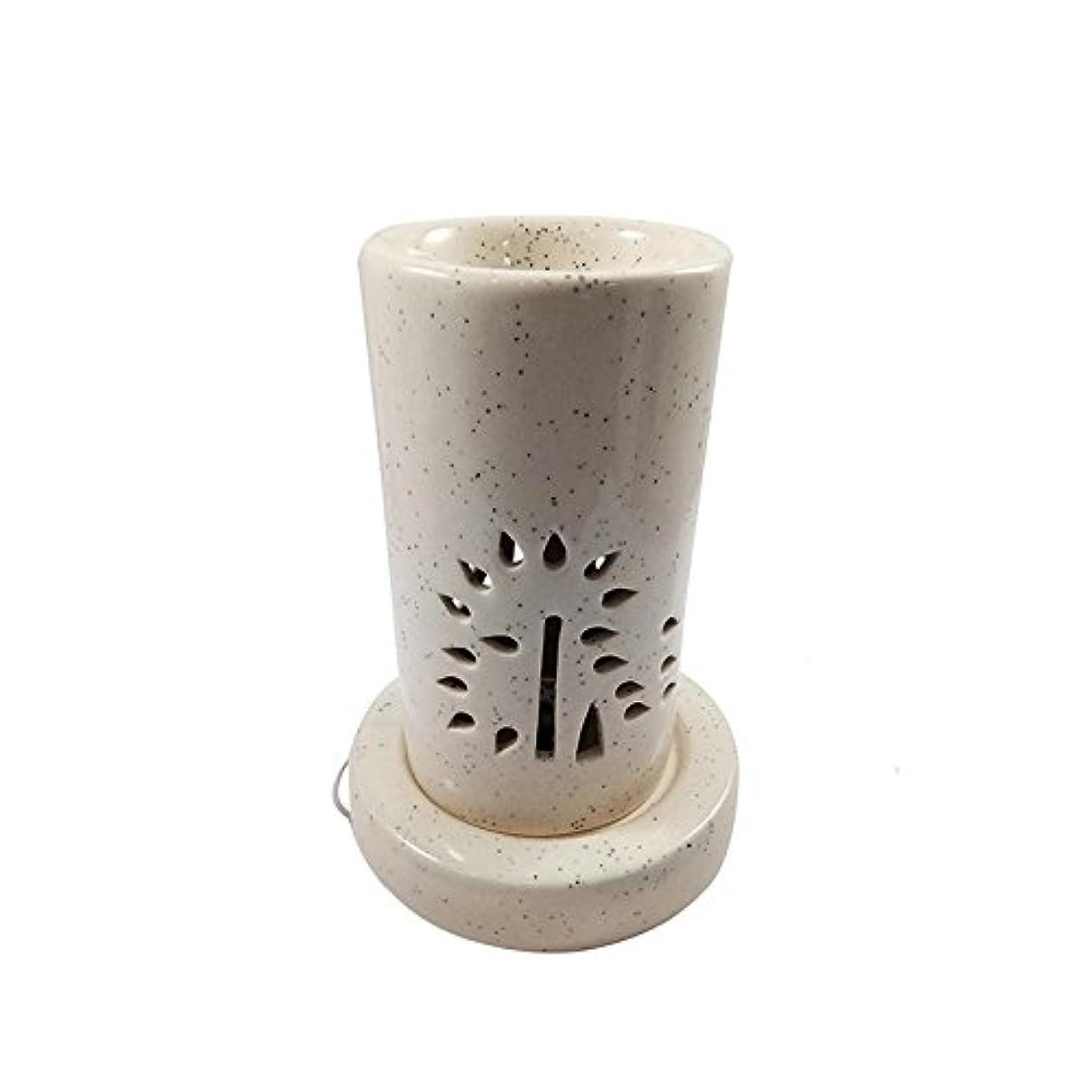 緊張未就学球状ホームデコレーション定期的に使用する汚染のない手作りセラミックエスニックアロマディフューザーオイルバーナー|良質ブラウン色電気アロマテラピー香油暖かい数量1