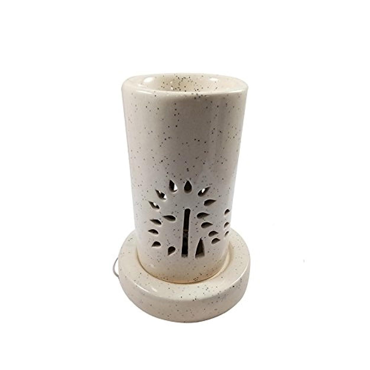 スクレーパー軽食ペースホームデコレーション定期的に使用する汚染のない手作りセラミックエスニックアロマディフューザーオイルバーナー|良質ブラウン色電気アロマテラピー香油暖かい数量1