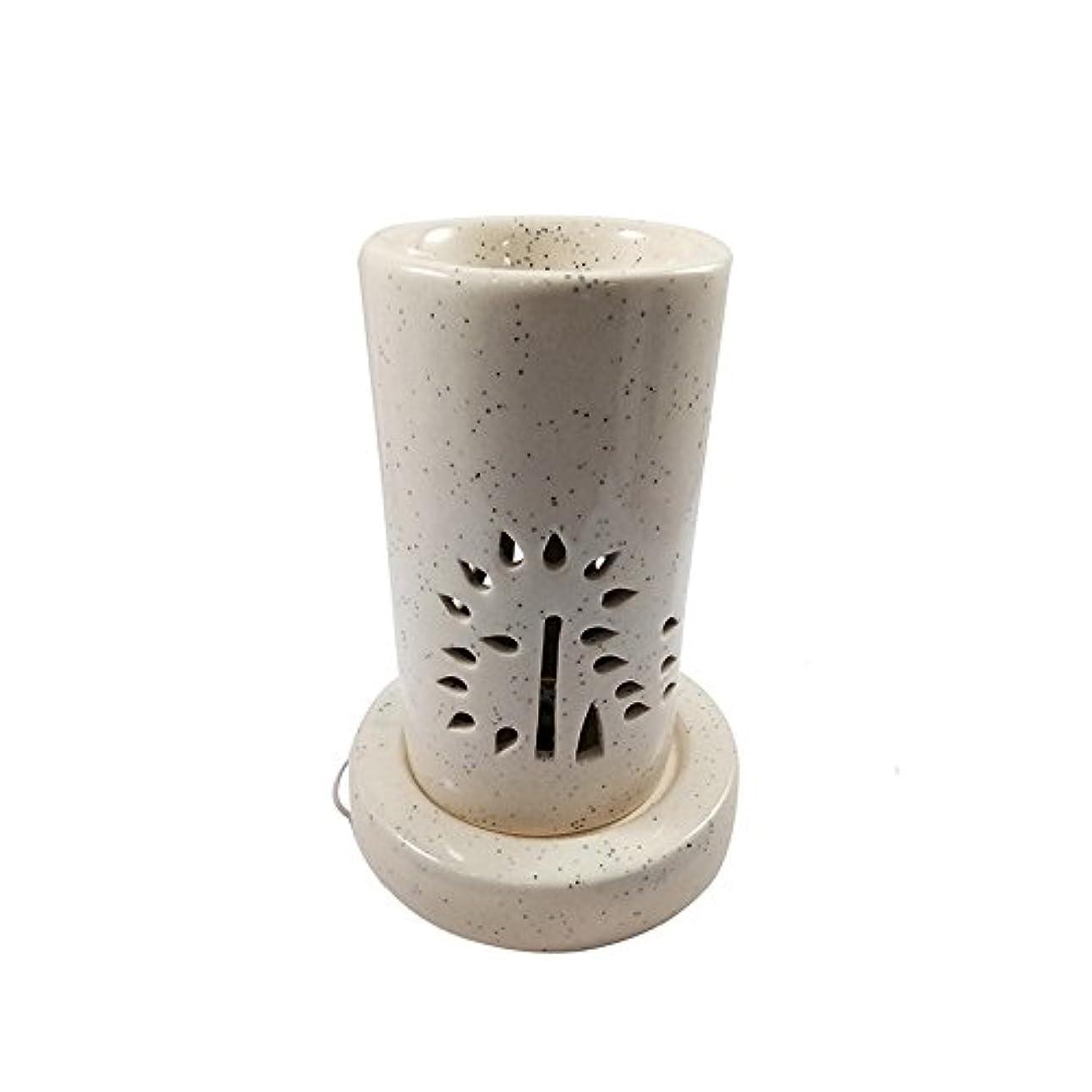 悪性ドレインヘルシーホームデコレーション定期的に使用する汚染のない手作りセラミックエスニックアロマディフューザーオイルバーナー|良質ブラウン色電気アロマテラピー香油暖かい数量1
