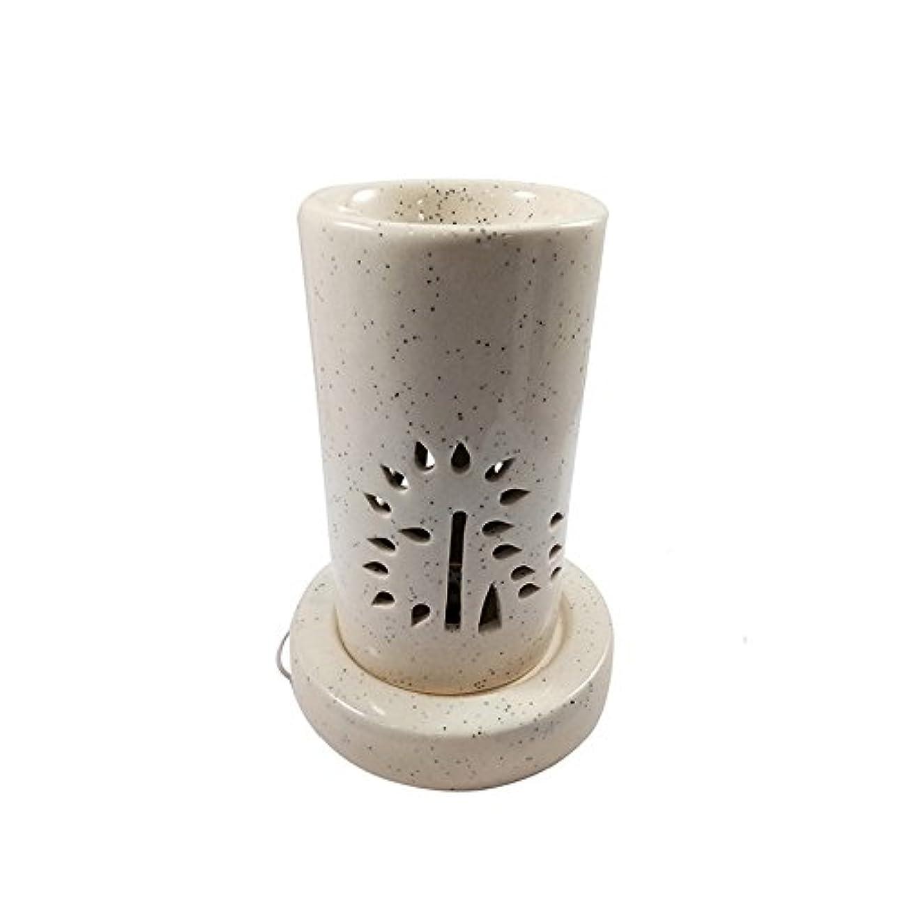 役員策定するレオナルドダホームデコレーション定期的に使用する汚染のない手作りセラミックエスニックアロマディフューザーオイルバーナー|良質ブラウン色電気アロマテラピー香油暖かい数量1