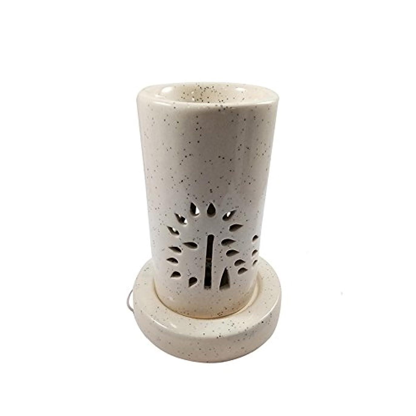 変形哲学者呪われたホームデコレーション定期的に使用する汚染のない手作りセラミックエスニックアロマディフューザーオイルバーナー|良質ブラウン色電気アロマテラピー香油暖かい数量1