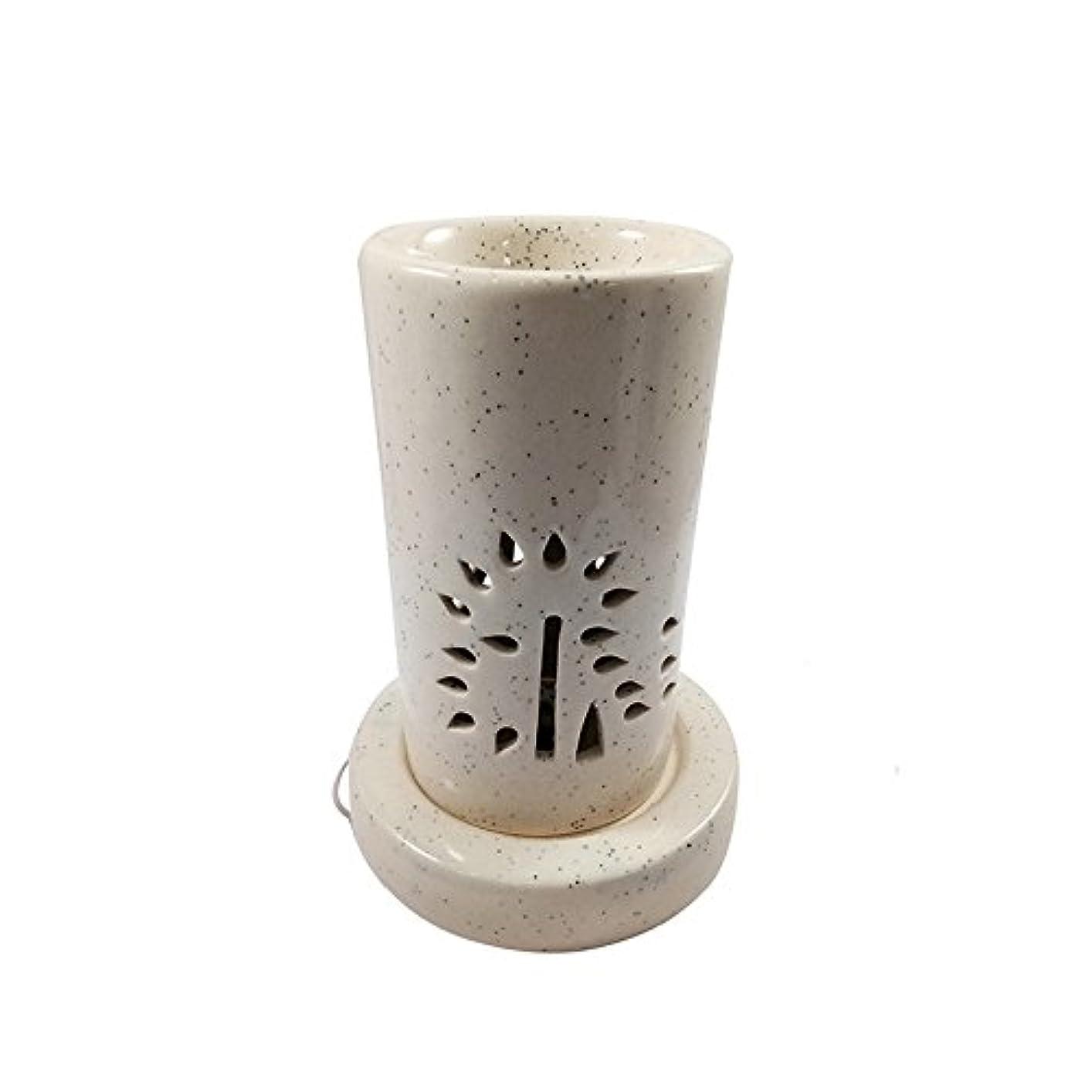 マッサージ朝の体操をする解決ホームデコレーション定期的に使用する汚染のない手作りセラミックエスニックアロマディフューザーオイルバーナー|良質ブラウン色電気アロマテラピー香油暖かい数量1