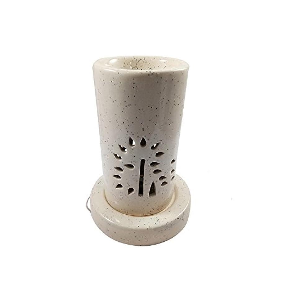 牧草地落ち着かないダイアクリティカルホームデコレーション定期的に使用する汚染のない手作りセラミックエスニックアロマディフューザーオイルバーナー 良質ブラウン色電気アロマテラピー香油暖かい数量1