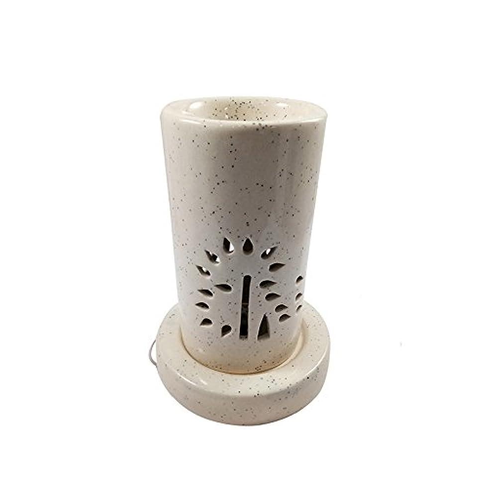 期待出発する不調和ホームデコレーション定期的に使用する汚染のない手作りセラミックエスニックアロマディフューザーオイルバーナー|良質ブラウン色電気アロマテラピー香油暖かい数量1