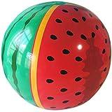 ビーチボール ビーチおもちゃ スイカボール 水遊び 空気入れ インフレータブルボール プール玩具 水中ゲーム パーティーやビーチ用 プール 子供 大人 夏の定番 直径90cm