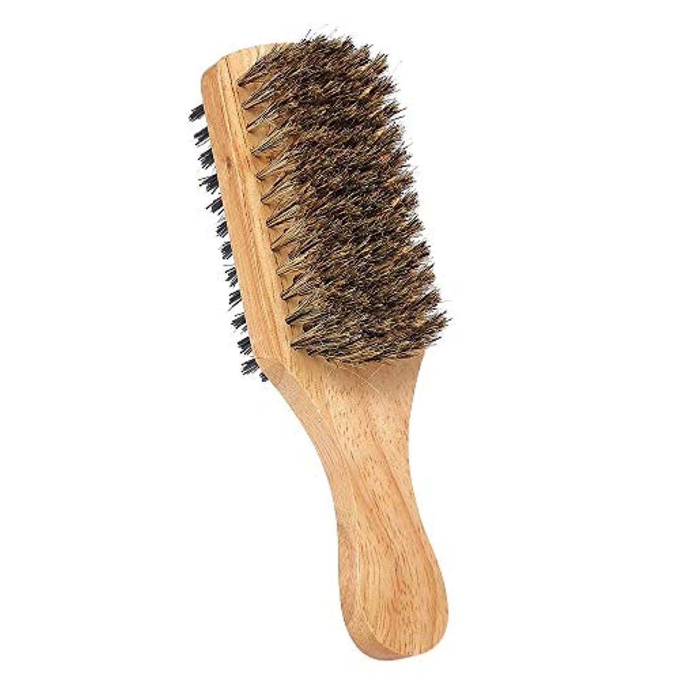 数学砂の尾シェービングブラシ メンズ 理容 洗顔 髭剃り ひげ髭ブラシ ひげケア ひげ剃り シェービングブラシ デュアルサイド (Color : #2)