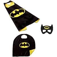 Kids Cape & Mask Boy Girl Party Costume Set - Batman