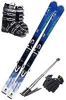 スキー5点セット SWALLOW 18-19 ROTACION 4A 165cm ストック125cm/ブーツ28cm/メンズグローブ