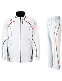 DESCENTE(デサント) メンズ トレーニング ジャケット?パンツ上下セット ホワイト×レッド DTM1910B-DTM1910PB-WHR (XO)