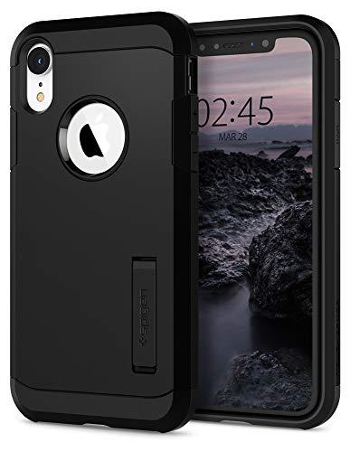 【Spigen】 スマホケース iPhone XR ケース 対応 耐衝撃 米軍MIL規格取得 スタンド機能 タフ・アーマー 064CS24876 (ブラック)