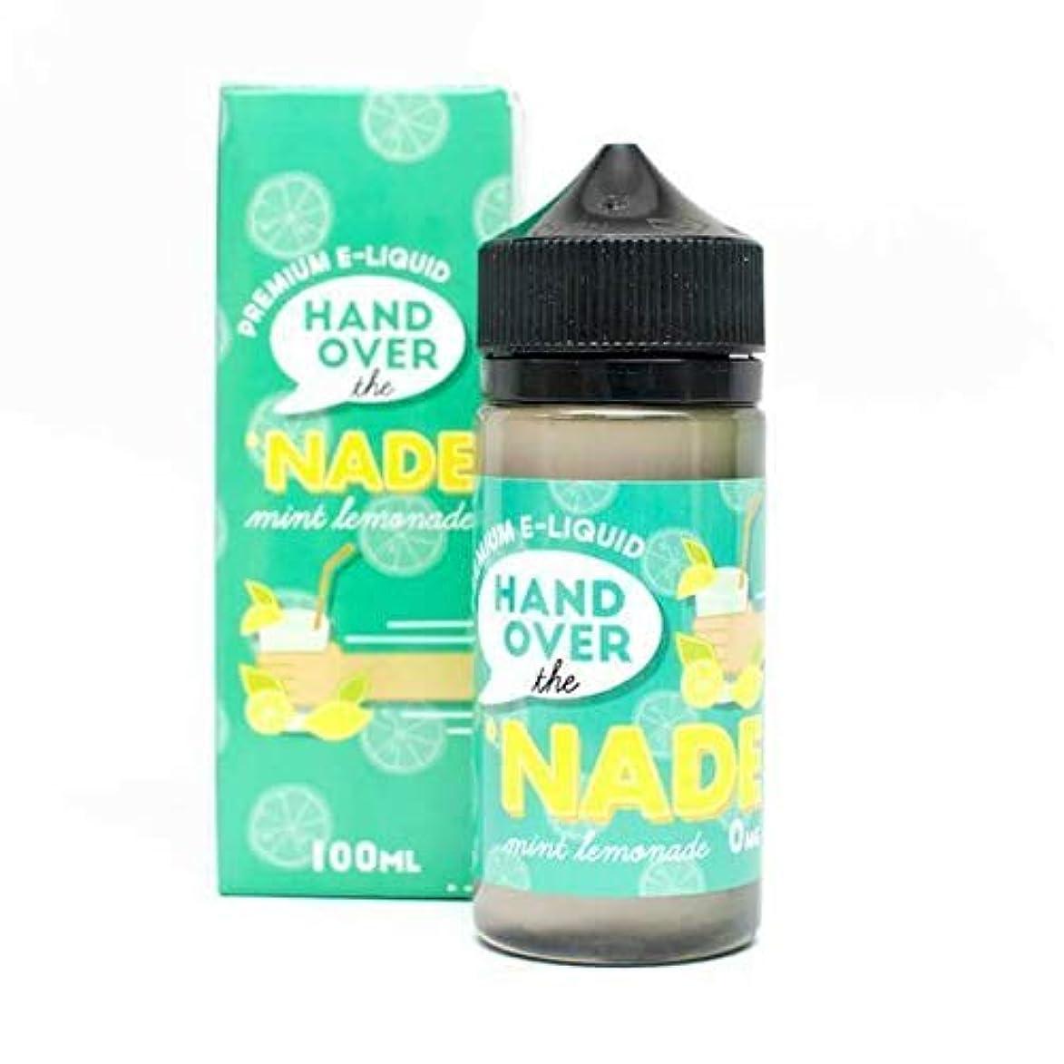 仕立て屋遅れお茶USA産 電子タバコ用リキッド HAND OVER Premium E-Liquid (mint lemonade, 100ml)