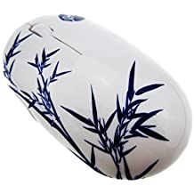 YJY Wireless Mouse Exquisite Painting - 2.4G 1000-DPI 3-Button Mobile Optical USB Receiver For Laptop Business(Bamboo) by YJY [並行輸入品]