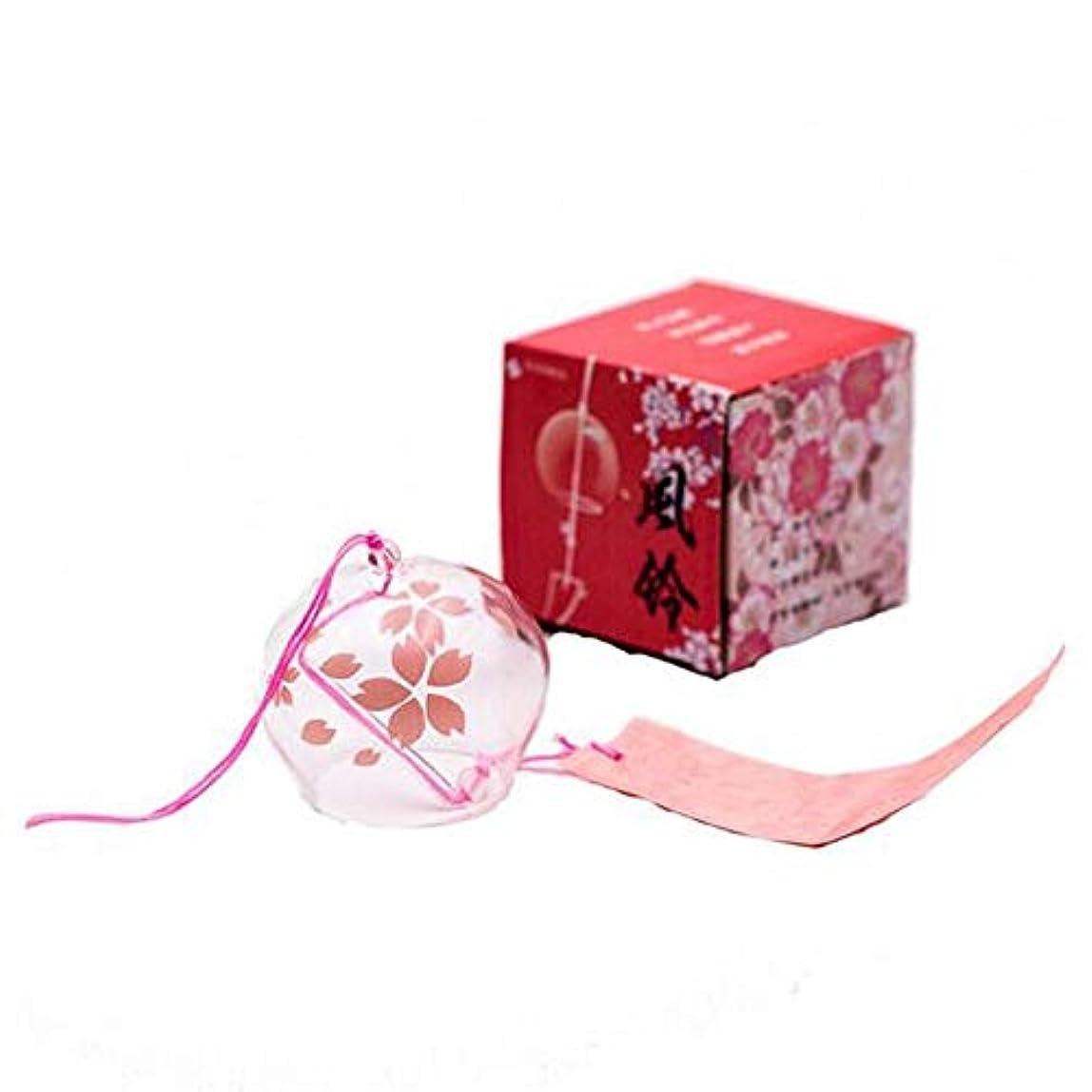 フォロー理容師専門用語Hongyuantongxun 風チャイム、ガラス素材ホームクリエイティブ風チャイム、パープル、40cm程度の長さの合計,、装飾品ペンダント (Color : Pink)