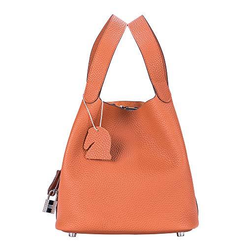 FULSUN ハンドバッグ レディース トートバッグ 高級牛本革 バケツ型 キューブ型 バッグ 大容量 多色 Mサイズ