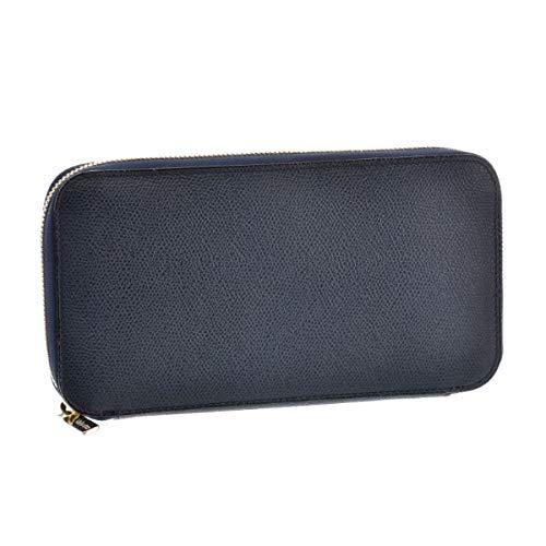 6f0bdcdd2b8e Valextra(ヴァレクストラ) 財布 メンズ グレインレザー ラウンドファスナー長財布 ネイビー V9L06-028
