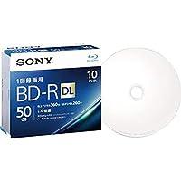 ソニー・録画用BD-R・DL・260分1-4倍速・ホワイトワイドプリンタブル・5mmスリムケース・10BNR2VJPS4・1パック-10枚-