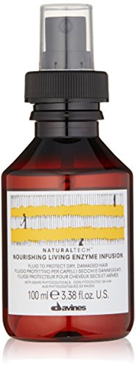 枯渇する悲惨な好奇心ダヴィネス Natural Tech Nourishing Living Enzyme Infusion (To Protect Dry, Damaged Hair) 100ml/3.38oz