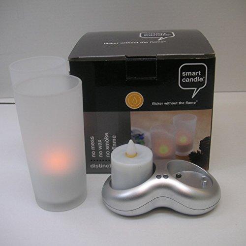 電池 電気 ランタン 【インテリア照明】2ピース充電式キャンドルセット LEDキャンドル