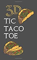 3D TIC TACO TOE: 180 Blank Game Grids Gift Book Grey Taco Motif Convenient Glove Compartment & Purse Size With Instructions