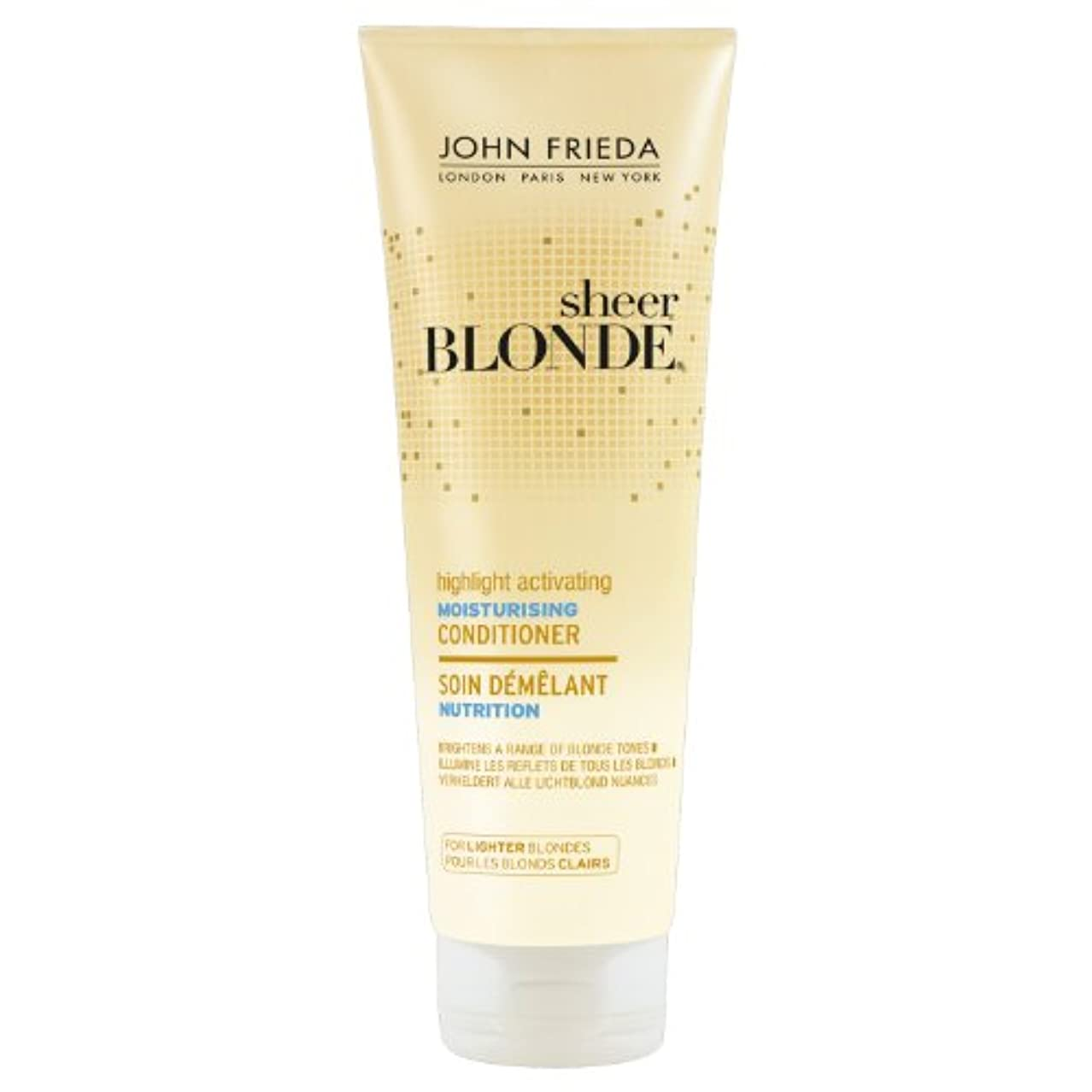 闇再生可能努力John Frieda Sheer Blonde Highlight Activating Moisturising Conditioner for Lighter Blondes 250ml