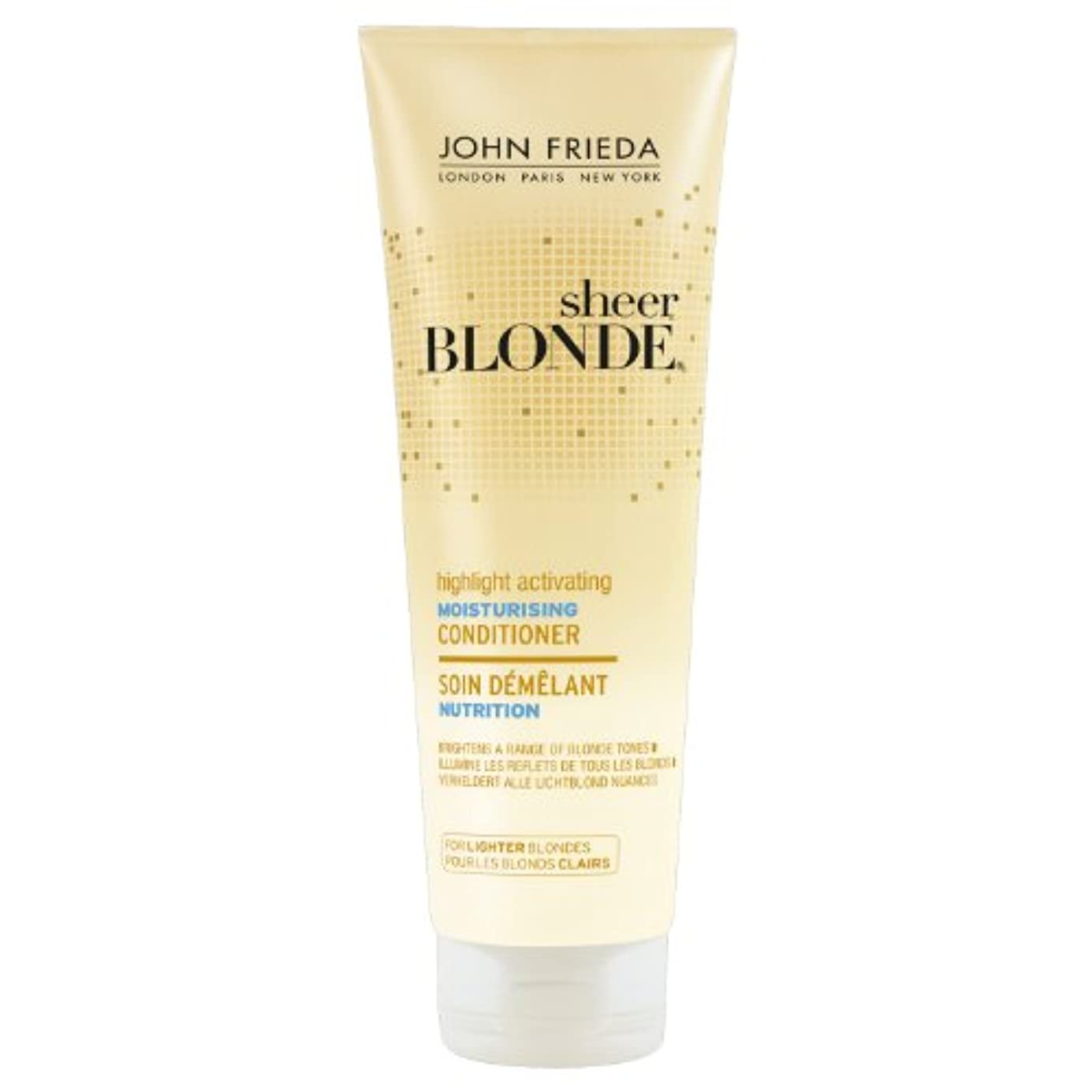 落ち着く完璧雑種John Frieda Sheer Blonde Highlight Activating Moisturising Conditioner for Lighter Blondes 250ml