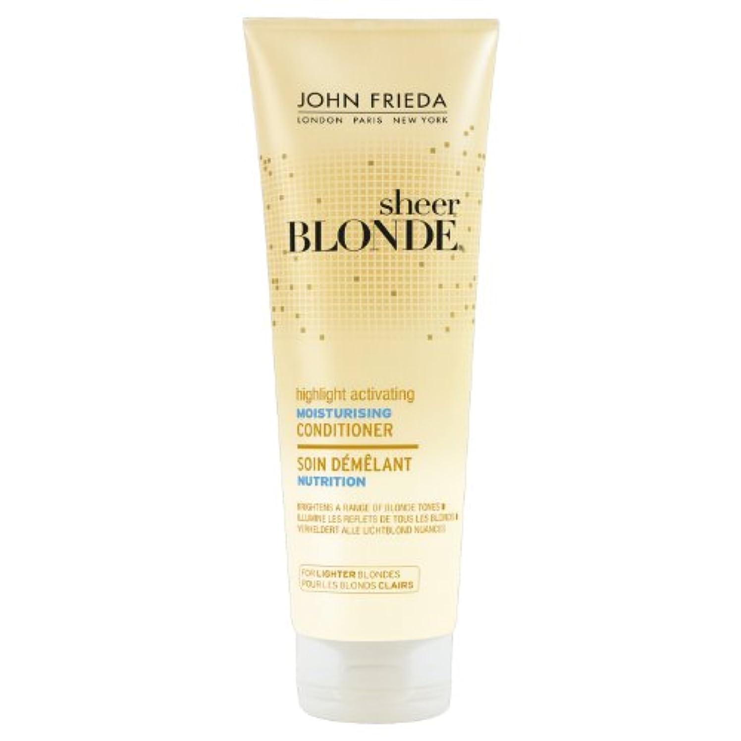 ルーフ他の場所カテゴリーJohn Frieda Sheer Blonde Highlight Activating Moisturising Conditioner for Lighter Blondes 250ml