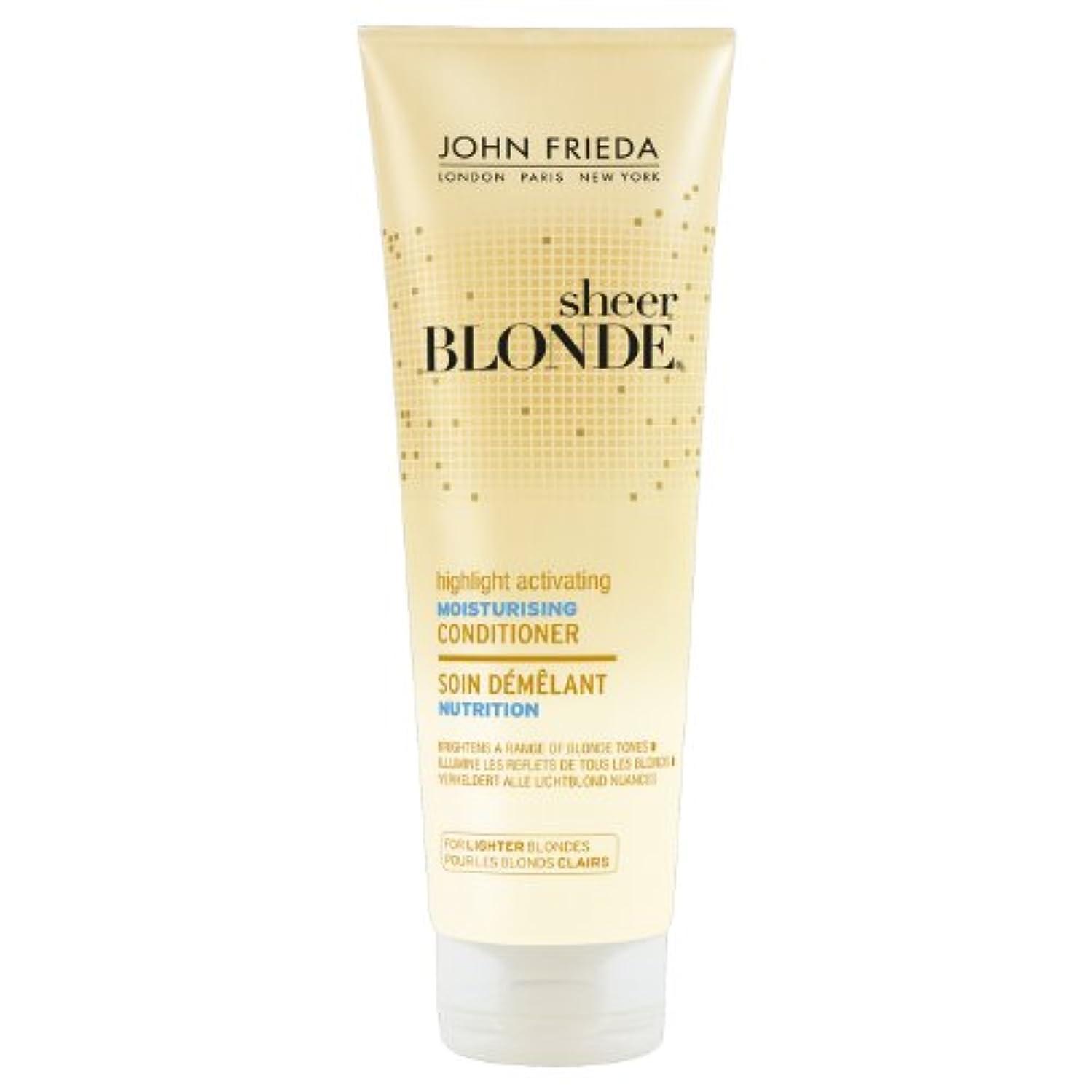 デモンストレーション消去クリーナーJohn Frieda Sheer Blonde Highlight Activating Moisturising Conditioner for Lighter Blondes 250ml