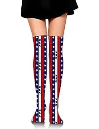 アメリカの旗 オーバーニー ソックス レディース ニーソックス ハイソックス 美脚 着圧 保温 防寒 かわいい 通学 通勤